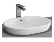 5942B003-0012 - Metropole Countertop Round Bowl, 60cm, without Tap Hole, with Overflow Hole