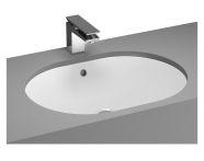 5942B003H1082 - Metropole Undercounter Round Bowl, 60 cm, without Tap Hole, with Overflow Hole