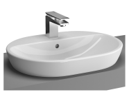 5943B003-0001 - Metropole Countertop Round Bowl, 60cm, with Tap Hole, without Overflow Hole