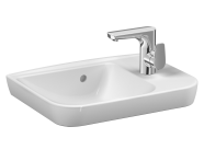 5945B003-0921 - Sento Compact basin, 50x35 cm, one tap hole right, with overflow hole, for countertop use