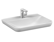 5946B003-0001 - Sento   Vanity basin, 65 cm, with one tap hole, with overflow hole, white
