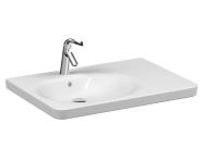 5966B003-0001 - Special Need's Asymmetrical washbasin, 80 cm, with one tap hole, with overflow hole , white