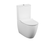 5987B003-0096 - Sento   Rim-ex Close-coupled WC Pan, back-to-wall, 65 cm, universal outlet, water connection from side, white