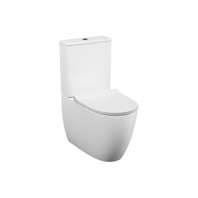 Sento   Rim-ex Close-coupled WC Pan, back-to-wall, 65 cm, universal outlet, water connection from side, white