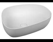 5991B401H0016 - Outline Pebble Bowl Washbasin, Matt. White