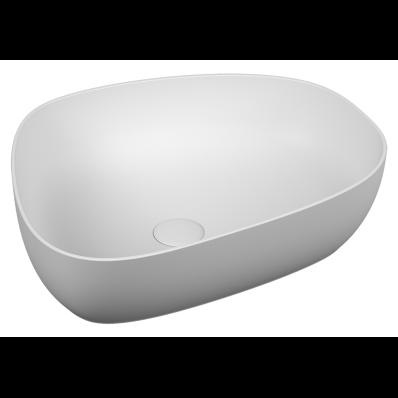 Outline Pebble Bowl Washbasin, Matt. White