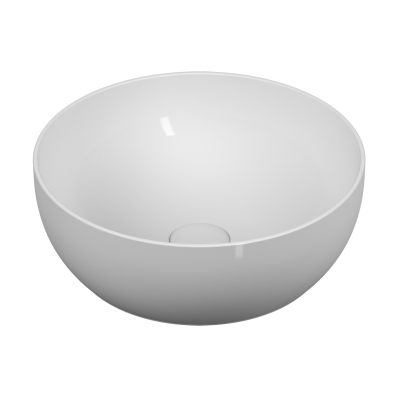 Outline Round Bowl Washbasin, Matte White