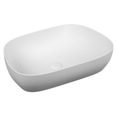 Outline Tv Bowl Washbasin, Matte White