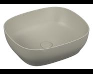 5994B450H0016 - Outline Square Bowl Washbasin, Matte Mink