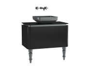 60088 - Gala Classic Washbasin Unit 80 cm Black-Chrome