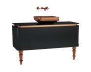 60095 - Gala Classic Washbasin Unit 120 cm Black-Copper