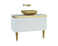 60099 - Gala Classic Washbasin Unit 100 cm White-Gold