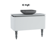 60100 - Gala Classic Washbasin Unit 100 cm White-Chrome