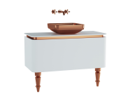 60101 - Gala Classic Washbasin Unit 100 cm White-Copper