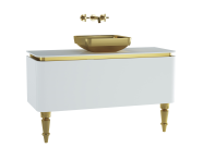 60102 - Gala Classic Washbasin Unit 120 cm White-Gold