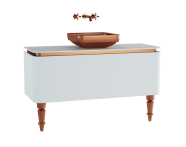 60104 - Gala Classic Washbasin Unit 120 cm White-Copper