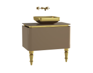 60105 - Gala Classic Washbasin Unit 80 cm Beige-Gold