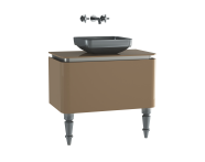 60106 - Gala Classic Washbasin Unit 80 cm Beige-Chrome