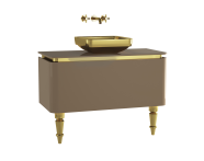 60108 - Gala Classic Washbasin Unit 100 cm Beige-Gold