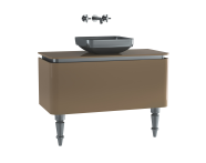 60109 - Gala Classic Washbasin Unit 100 cm Beige-Chrome