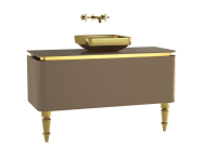 60111 - Gala Classic Washbasin Unit 120 cm Beige-Gold