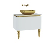 60157 - Gala Classic Washbasin Unit 80 cm White-Gold