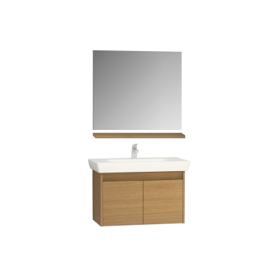 Step Flatpack Set 85 Cm With Doors Washbasin Unit Mirror