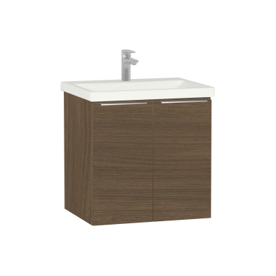 Ecora Washbasin Unit, with Door, Including Basin, 60 cm, Oak