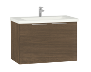 60313 - Ecora Washbasin Unit, with Door, Including Basin, 90 cm, Oak