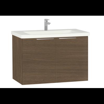 Ecora Washbasin Unit, with Door, Including Basin, 90 cm, Oak