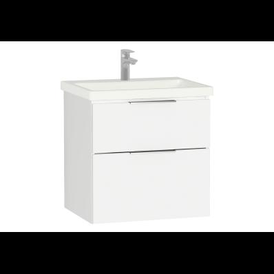 Ecora Washbasin Unit, 2 Drawer, Including Basin, 60 cm, White
