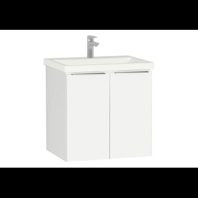 Ecora Washbasin Unit, with Door, Including Basin, 60 cm, White