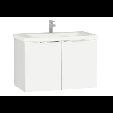 Ecora Washbasin Unit, with Door, Including Basin, 90 cm, White