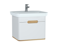 60812 - Sento Washbasin Unit, 65 cm, with 1 drawer, without legs, Matte White