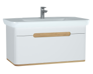 60814 - Sento Washbasin Unit, 100 cm, with 1 drawer, without legs, Matte White