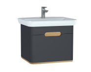 60818 - Sento Washbasin Unit, 65 cm, with 1 drawer, without legs, Matte Anthracite
