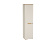 60843 - Sento Tall Unit, 40 cm, with laundry basket, without legs, Matte Cream, right