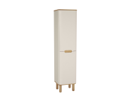 60846 - Sento Tall Unit, 40 cm, with legs, Matte Cream, right
