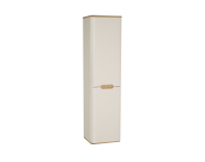 60855 - Sento Tall Unit, 40 cm, with laundry basket, without legs, Matte Cream, left