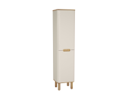 60858 - Sento Tall Unit, 40 cm, with legs, Matte Cream, left