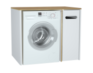 60869 - Sento Laundry Unit, 105 cm, Matte White, right
