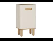 60874 - Sento Mid Unit, 40 cm, with legs, Matte Cream, right