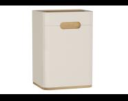 60877 - Sento Mid Unit, 40 cm, without legs, Matte Cream, right
