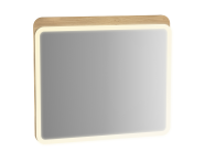 60888 - Sento Illuminated Mirror, 50 cm, Light Oak