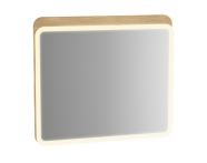 60890 - Sento Illuminated Mirror, 80 cm, Light Oak