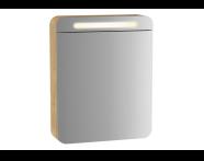 60893 - Sento Illuminated Mirror Cabinet, 50 cm, Light Oak, left