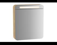 60894 - Sento Illuminated Mirror Cabinet, 60 cm, Light Oak, right