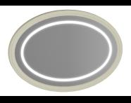 60996 - Elegance Illuminated Mirror, 100 cm, Matte Sand Beige