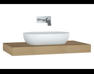 61001 - Memoria Black & White Thick Counter, 100 cm, Patterned Oak