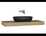 61002 - Memoria Black & White Thick Counter, 120 cm, Patterned Oak